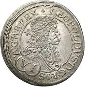 6 Kreuzer - Leopold I (Vienna) -  obverse