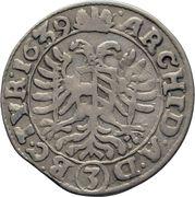 3 Kreuzer - Ferdinand III (Vienna) -  reverse