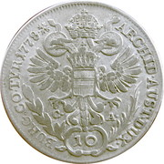 10 Kreuzer - Maria Theresia -  reverse
