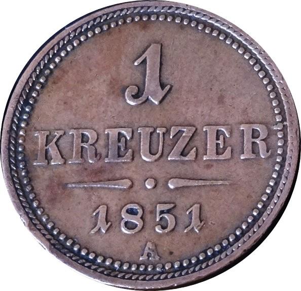 1 kreuzer 1851 цена альбом под 2 рублей