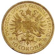 10 Corona - Franz Joseph I (Reign) -  reverse