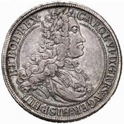 ½ Thaler - Karl VI (Graz) -  obverse