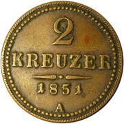 2 Kreuzer - Franz Joseph I -  reverse
