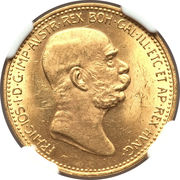 20 Corona - Franz Joseph I (Reign) -  obverse