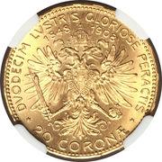20 Corona - Franz Joseph I (Reign) -  reverse