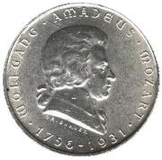 2 Schilling (Wolfgang Amadeus Mozart) – reverse