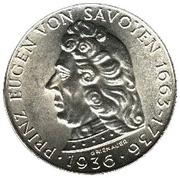 2 Schilling (Prince Eugen of Savoy) – reverse