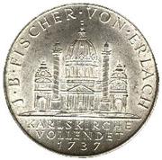 2 Schilling (St. Karl Church) -  reverse