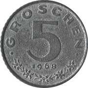 5 Groschen – reverse