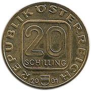 20 Schilling (Johann Nestroy) -  obverse