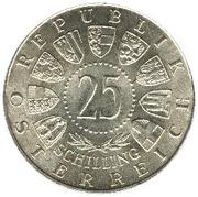 25 Schilling (Anton Bruckner) -  obverse