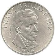 25 Schilling (Franz Grillparzer) -  reverse