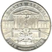 50 Schilling (Republic Anniversary) -  reverse
