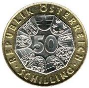 50 Schilling (Sigmund Freud) -  reverse