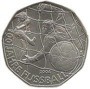 5 Euro (100 Years of Football) -  reverse