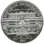 10 Euro (Schloss Hof Castle) -  reverse