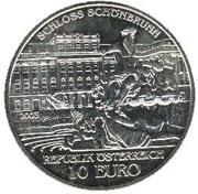 10 Euro (Schönbrunn Palace) -  reverse