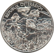 10 Euro (Charlemagne in the Undersberg) -  reverse