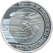 100 Schilling (Transportation) – reverse