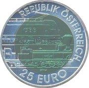 25 Euro (Semmering Alpine Railway) – obverse