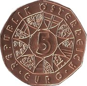 5 Euro (Society of Music Lovers) -  obverse