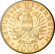 1000 Schilling (Babenberg Dynasty) – obverse