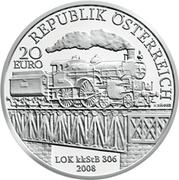 20 Euro (Kaiserin Elisabeth Westbahn) – obverse