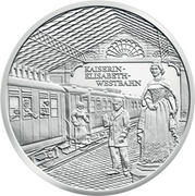 20 Euro (Kaiserin Elisabeth Westbahn) -  reverse