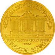 100 000 Euro (Vienna Philharmonic) -  reverse