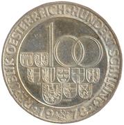 100 Schilling (Arlberg-Tunnel) -  reverse