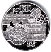 100 Schilling (First Republic) -  reverse