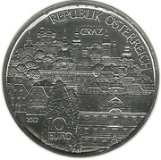 10 Euro (Steiermark - Silver Issue) -  reverse