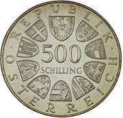 500 Schilling (Fanny Elssler) -  reverse