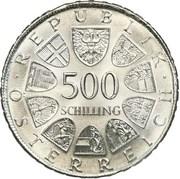 500 Schilling (Otto Bauer) -  reverse