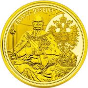 100 Euro (Imperial crown of Austria) -  reverse