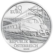 20 Euro (Railways of the Future) – obverse