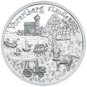 10 Euro (Vorarlberg - Silver Issue) -  reverse