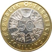 50 Schilling (Wiener Secession) -  reverse