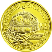 100 Euro (The hungarian crown of St. Stephen) -  obverse