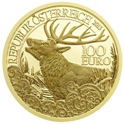 100 Euro (The Red Deer) -  reverse