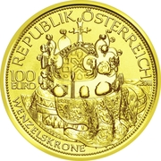 100 Euro (The Crown of St.Wenceslas) -  obverse