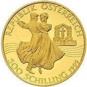500 Schilling (Johann Strauss) -  reverse