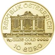 10 Euro (Vienna Philharmonic) -  reverse
