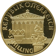 1000 Schilling (Olympic Movement; Zeus) -  obverse