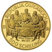 500 Schilling (Congress of Vienna) -  reverse