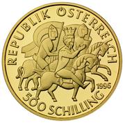 500 Schilling (Heinrich II. Jasomirgott) -  reverse