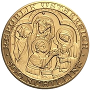 500 Schilling (The Birth of Jesus Christ) -  reverse