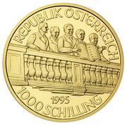 1000 Schilling (50th Anniversary second Republic) -  reverse