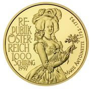 1000 Schilling (Marie Antoinette) -  reverse