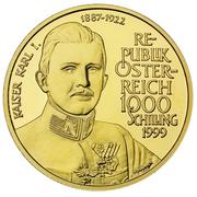 1000 Schilling (Kaiser Karl I.) -  reverse